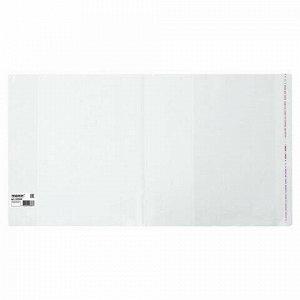 Обложка ПП для учебников/тетрадей А4/контурных карт, ПИФАГОР, КЛЕЙКИЙ КРАЙ,80 мкм,295х560 мм, Штрих-код, 229365