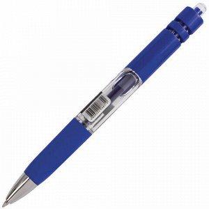 """Ручка гелевая автоматическая с грипом BRAUBERG """"Black Jack"""", СИНЯЯ, трехгранная, узел 0,7 мм, линия письма 0,5 мм, 141551"""