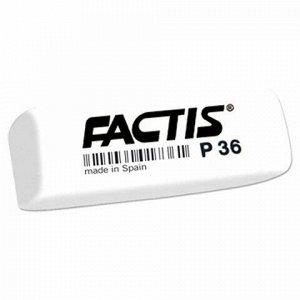 Ластик FACTIS P 36 (Испания), 56х20х9 мм, белый, прямоугольный, скошенные края, CPFP36B