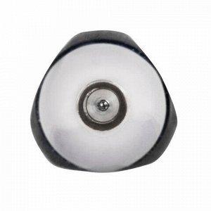 """Ручка гелевая автоматическая с грипом BRAUBERG """"Black Jack"""", ЧЕРНАЯ, трехгранная, узел 0,7 мм, линия письма 0,5 мм, 141552"""