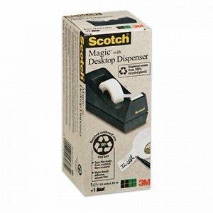 Диспенсер для клейкой ленты SCOTCH настольный, без ленты, для лент шириной до 19 мм, (3М, США), 70005031102
