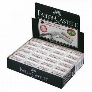"Ластик FABER-CASTELL ""PVC Free"", 31x16x11 мм, белый, прямоугольный, 188648"