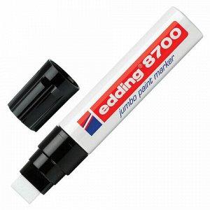 Маркер-краска лаковый (paint marker) EDDING 8700 JUMBO, 5-18 мм, БЕЛЫЙ, скошенный наконечник, алюминиевый корпус, E-8700/49