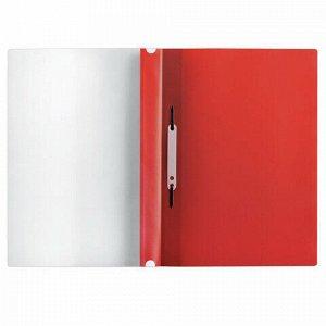 Скоросшиватель пластиковый с перфорацией BRAUBERG, А4, 140/180 мкм, красный, 226582