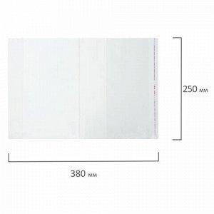 Обложка ПП 250x380 мм для учебников, ПИФАГОР, универсальная, КЛЕЙКИЙ КРАЙ, 80 мкм, штрих-код, 229354