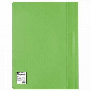 Скоросшиватель пластиковый BRAUBERG, А4, 130/180 мкм, салатовый, 228674
