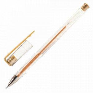Ручки гелевые ПИФАГОР, НАБОР 6 шт. МЕТАЛЛИК АССОРТИ, корпус прозрачный, узел 0,7 мм, линия письма 0,5 мм, 142795