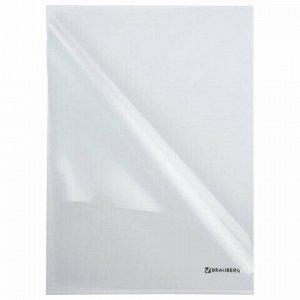Папка-уголок BRAUBERG, прозрачная, 0,10 мм, 223966