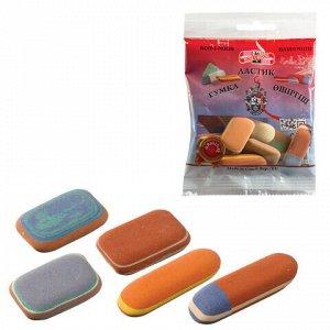 Набор ластиков KOH-I-NOOR 50 г, цвет и форма ассорти, натуральный каучук, 6510005010PSRU