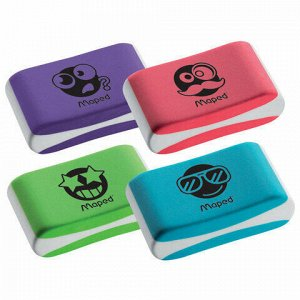 "Ластик MAPED (Франция) ""Essentials Soft Color"", 33,5х21,5х9,9 мм, цветной, ассорти, 112922"