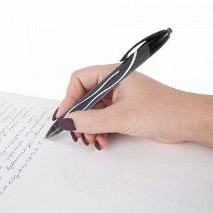 """Ручка гелевая автоматическая BIC """"Gelocity Quick Dry"""", ЧЕРНАЯ, узел 0,7 мм, линия письма 0,35 мм, 949873"""