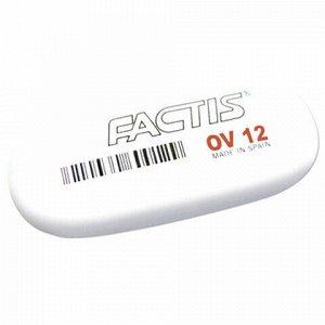 Ластик большой FACTIS OV 12 (Испания), 61х28х13 мм, белый, овальный, CMFOV12