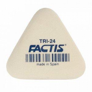 Ластик FACTIS (Испания) TRI 24, 51х46х12 мм, белый, треугольный, мягкий, PMFTRI24
