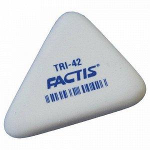 Ластик FACTIS TRI 42 (Испания), 45х35х8 мм, белый, треугольный, PMFTRI42