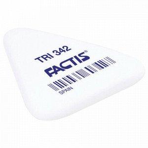 Ластик FACTIS TRI 342 (Испания), 49х45х6 мм, белый, треугольный, мягкий, PNFTRI342