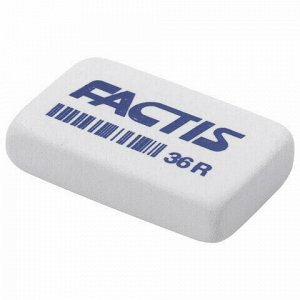 Ластик FACTIS 36 R (Испания), 40х24х9 мм, белый, прямоугольный, мягкий, CNF36RB