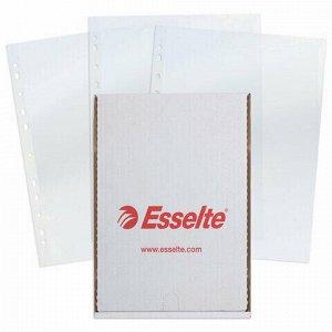 """Папки-файлы перфорированные, А4, ESSELTE """"Standard"""", комплект 100 шт., глянцевые, 55 мкм, 56066"""