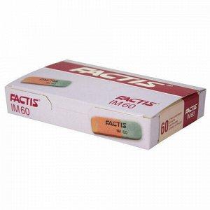Ластик FACTIS IM 60 (Испания), 46х15х8 мм, красно-серый, прямоугольный, CCFIM60RG