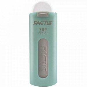 Ластик выдвижной FACTIS ZAP (Испания), 75x7x8 мм, белый, пластиковый корпус ассорти, PTF1130