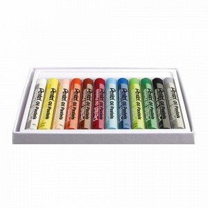"""Пастель масляная художественная PENTEL """"Oil Pastels"""", 12 цветов, круглое сечение, картонная упаковка, PHN4-12"""