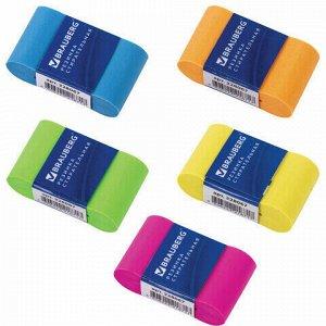 """Ластик BRAUBERG """"Rainbow"""", 42х23х13 мм, цвет ассорти, картонный держатель, 228067"""