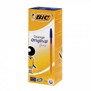"""Ручка шариковая BIC """"Orange"""", СИНЯЯ, корпус оранжевый, узел 0,8 мм, линия письма 0,3 мм, 8099221"""