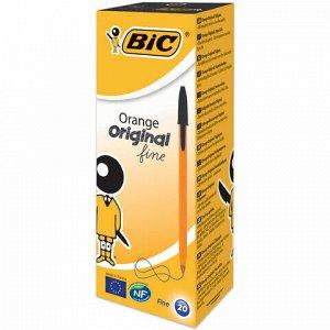 """Ручка шариковая BIC """"Orange"""", ЧЕРНАЯ, корпус оранжевый, узел 0,8 мм, линия письма 0,3 мм, 8099231"""