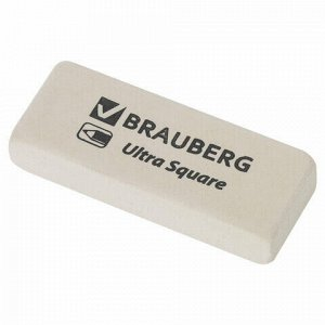 "Ластик BRAUBERG ""Ultra Square"", 50х20х9 мм, белый, натуральный каучук, 228709"