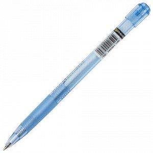 """Ручка шариковая автоматическая с грипом BRAUBERG """"Patrol"""", СИНЯЯ, корпус ассорти, узел 0,7 мм, линия письма 0,35 мм, 140582"""