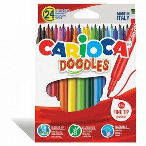 """Фломастеры CARIOCA (Италия) """"Doodles"""", 24 цвета, суперсмываемые, 42315"""