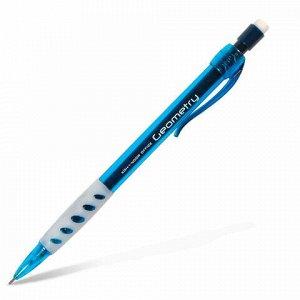 "Карандаш механический KOH-I-NOOR ""Geometry"", корпус тонированный голубой, грип, ластик, 0,5 мм, 5780008001KS"