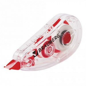"Корректирующая лента BRAUBERG ""Red Power"", 5 мм х 6 м, в упаковке с европодвесом, 220641"