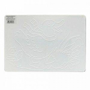 Доска для лепки А4, 297х210 мм, ЛУЧ, белая, с рельефным трафаретом, 17С1133-08