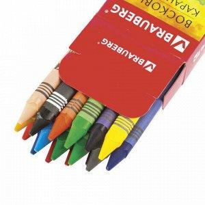 "Восковые карандаши BRAUBERG ""АКАДЕМИЯ"", НАБОР 18 цветов, 227284"