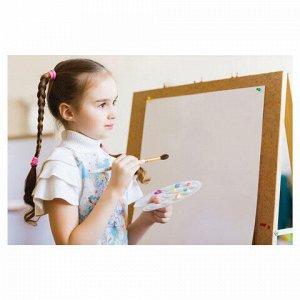 Палитра для рисования ЛУЧ пластиковая, овальная, 22х16 см, толщина 10 мм, 9С469-08