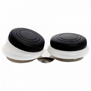 Масленка пластиковая двойная с крышкой, диаметр 5 см, высота 1,7 см, DK11004