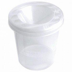 "Стакан-непроливайка СТАММ ""Crystal"", белый, прозрачный, СН100"