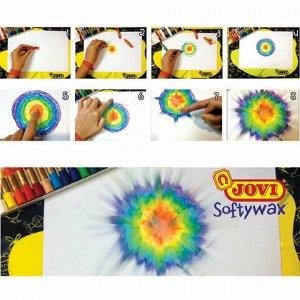 Восковые мелки JOVI (Испания), 10 цветов, диаметр 10 мм, мягкие, картонная коробка, 930/10