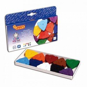 Восковые мелки фигурные JOVI (Испания), 10 цветов, для малышей, картонная коробка, 941