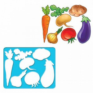 "Трафарет-раскраска ЛУЧ ""Овощи"", 9C 487-08"