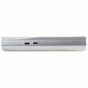 Аккумулятор внешний SONNEN POWERBANK V15S, 10000 mAh, 2 USB, литий-ионный, LED-дисплей, фонарик, белый, 262756