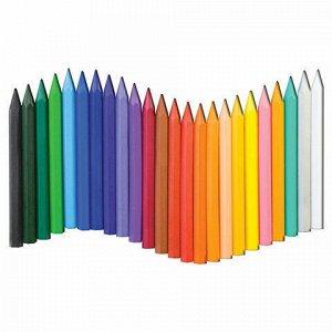 """Восковые мелки ЛУЧ """"Zoo"""", 24 цвета, шестигранные, картонная упаковка с европодвесом, 12С 866-08"""