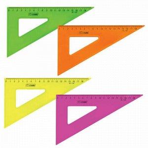 """Треугольник пластиковый 30х18 см, СТАММ """"Neon Crystal"""", тонированный, прозрачный, неоновый, ассорти, ТК47"""