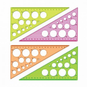 """Треугольник пластиковый 30х19 см, СТАММ """"Neon Crystal"""", тонированный, прозрачный, неоновый, ассорти, ТК11"""