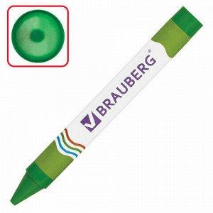 Восковые карандаши утолщенные BRAUBERG, НАБОР 12 цветов, 222966