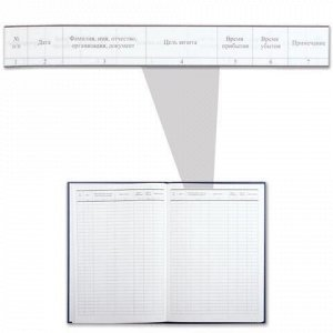 Журнал регистрации посетителей, 96 л., бумвинил, блок офсет, фольга, А4 (200х290 мм), BRAUBERG, 130151