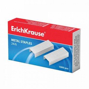 Скобы для степлера №24/6, 1000 штук, ERICH KRAUSE, до 20 листов, 1189