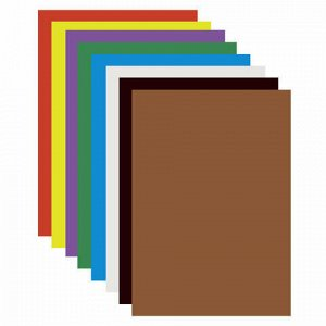 """Картон цветной А4 МЕЛОВАННЫЙ (глянцевый), 8 листов 8 цветов, ПИФАГОР, 200х283 мм, """"Мушкетер"""", 128014"""