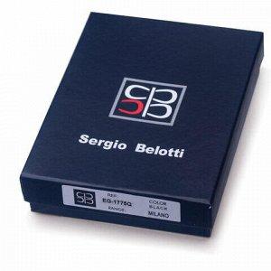 Портмоне мужское SERGIO BELOTTI, 120х90х20 мм, натуральная кожа, черное, Италия, 1775