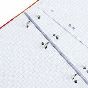 """Тетрадь на кольцах А5 (175х215 мм), 120 л., картонная обложка, клетка, глянцевая ламинация, BRAUBERG, """"Моноколор"""", 403275"""